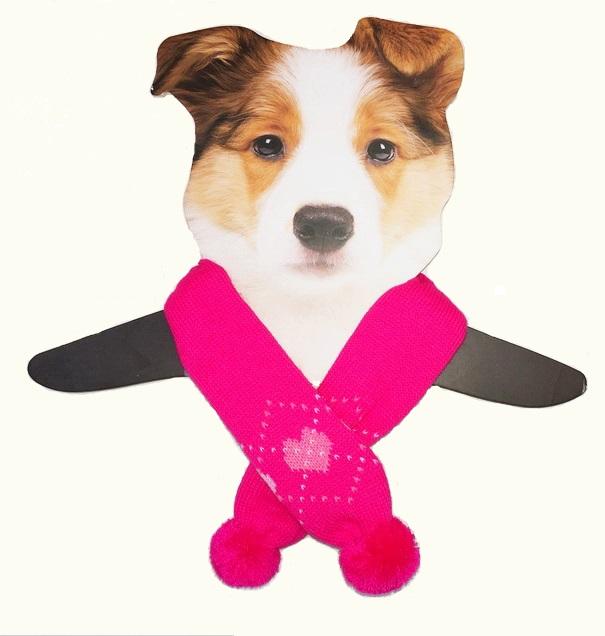Dallas Dogs Sassy Scarfs, Pink Hearts, Medium