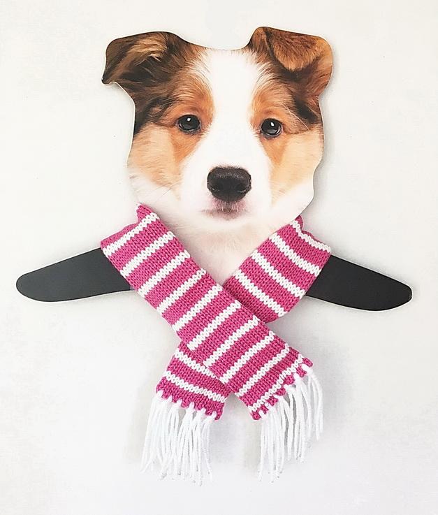 Dallas Dogs Sassy Scarfs, Pink Striped, Medium