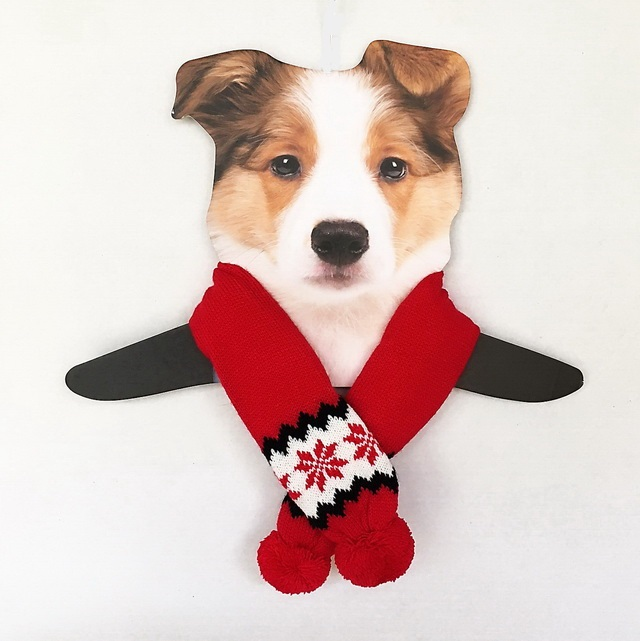 Dallas Dogs Sassy Scarfs, Red Snowflake, Medium