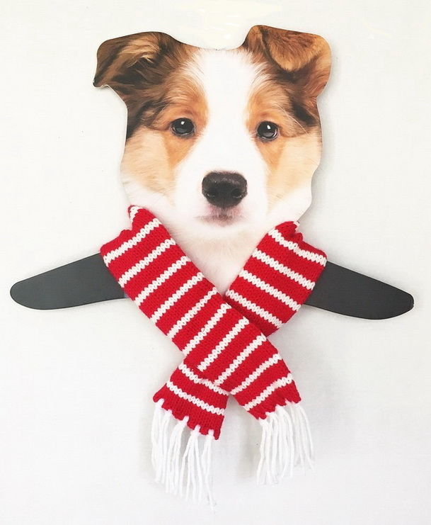 Dallas Dogs Sassy Scarfs, Red & White Striped, Medium