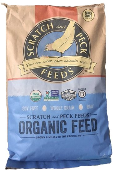 Scratch and Peck Feeds Naturally Free Organic Layer Chicken & Duck Feed, 25-lb bag