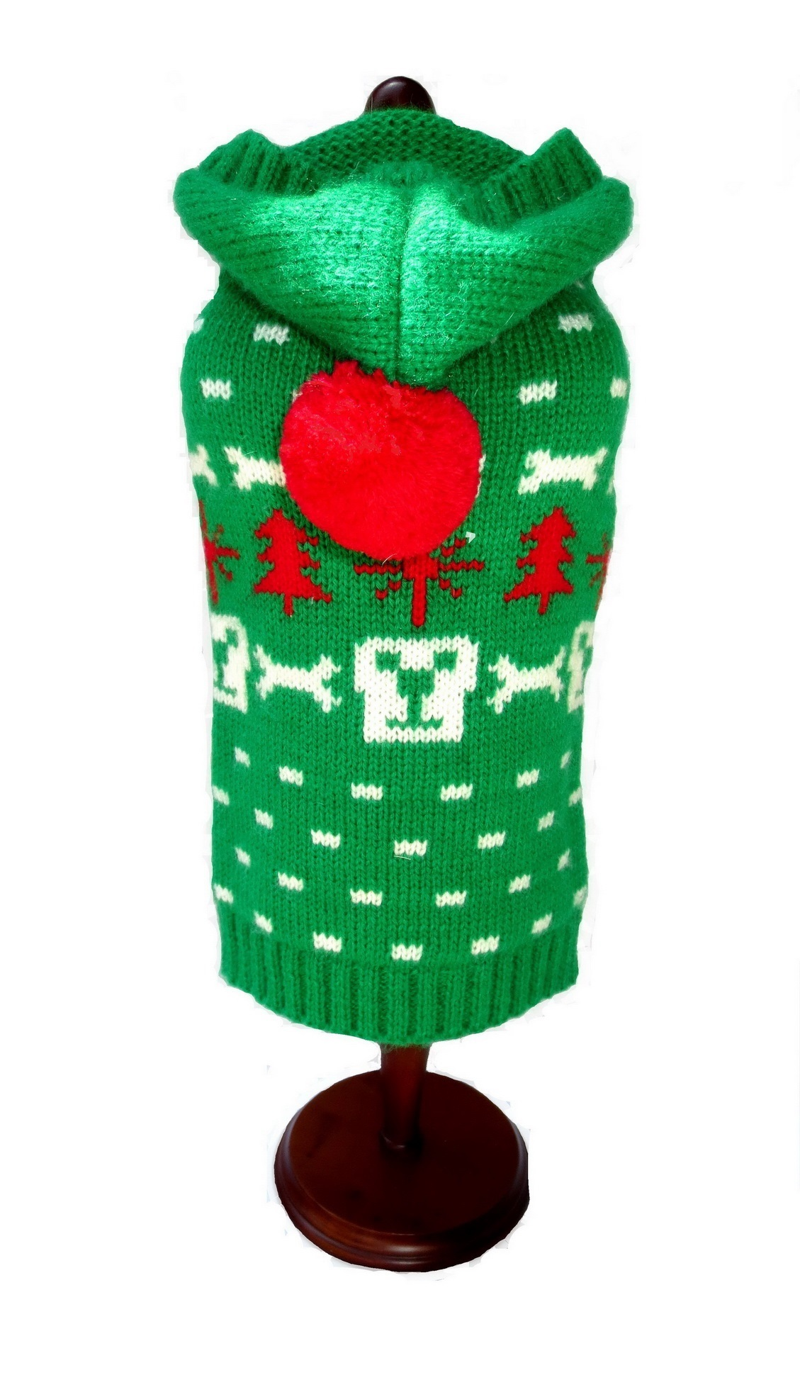 Dallas Dogs Sweater Hoodie, Dog Face Green, 8-in