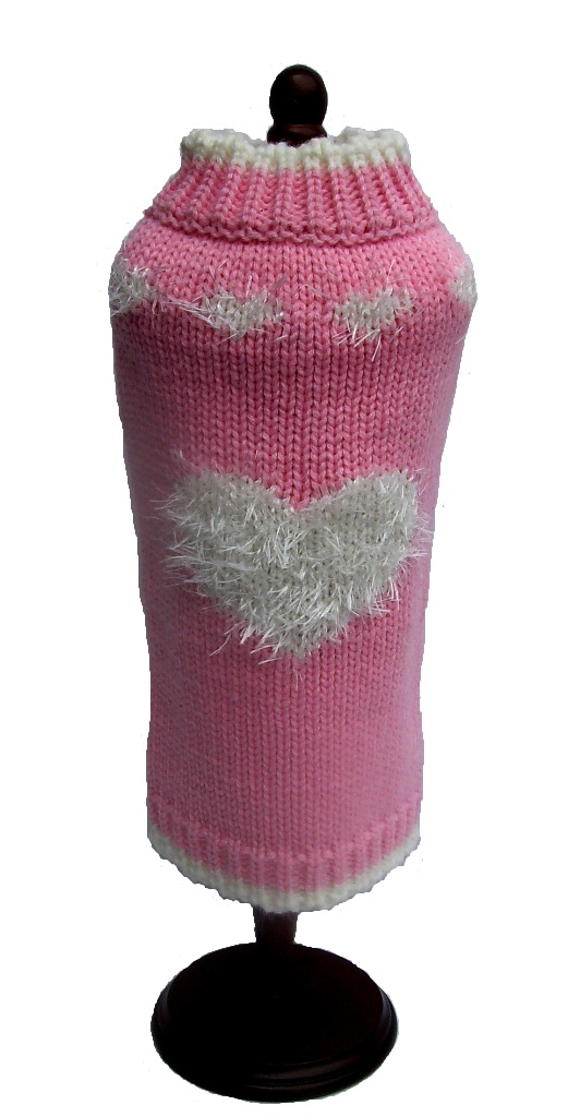 Dallas Dogs Sweater, Sweetheart Pink, 8-in