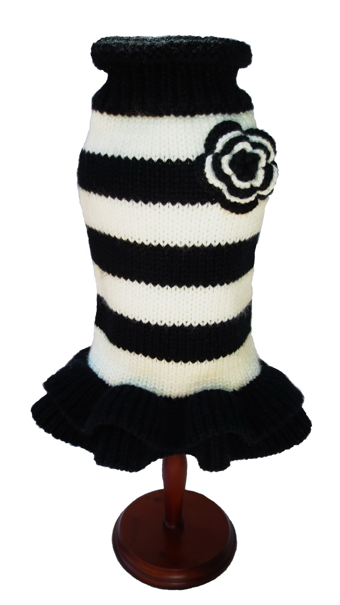 Dallas Dogs Sweater Dress, Black & White, 10-in