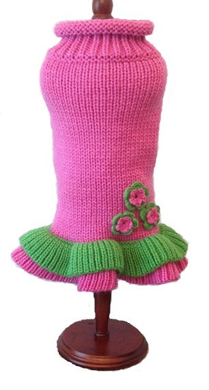 Dallas Dogs Sweater Dress, Girly Girl Pink, 8-in