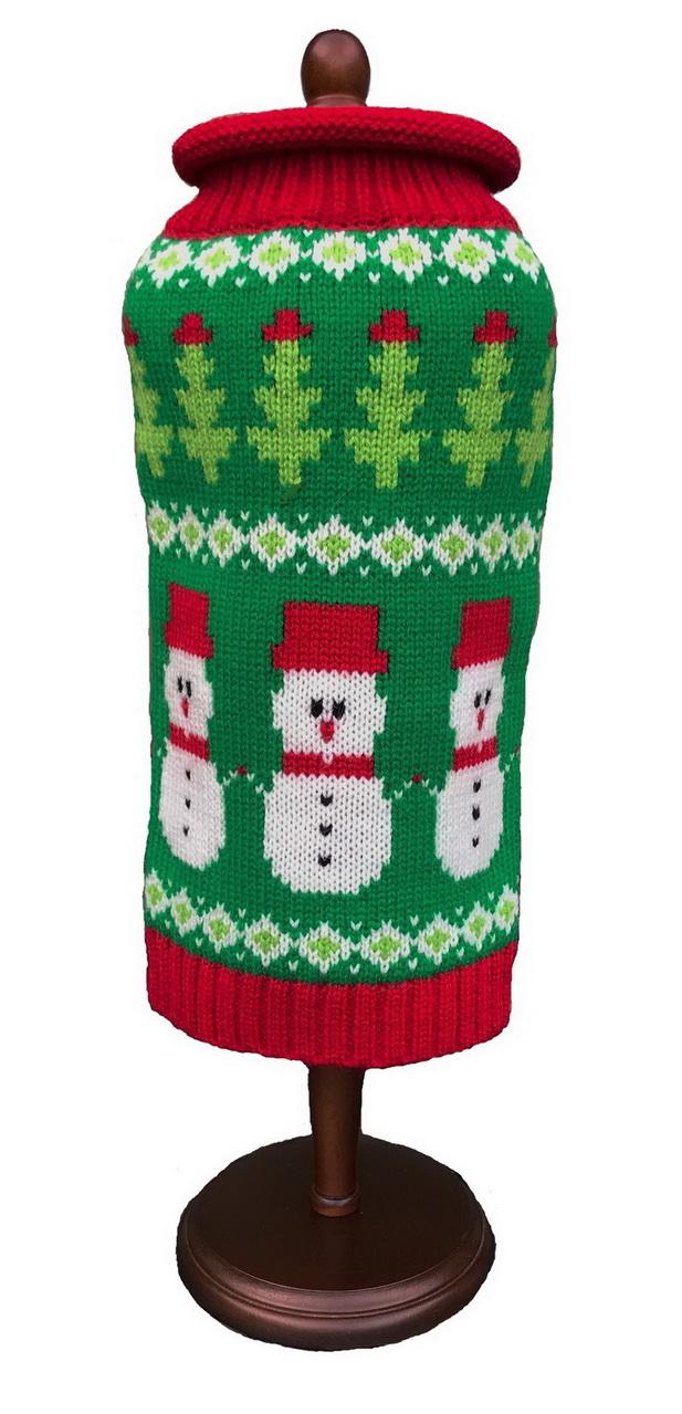 Dallas Dogs Sweater, Fair Isle Snowmen, 8-in