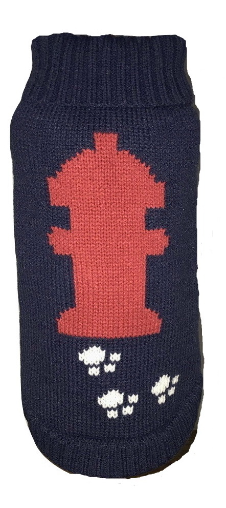 Dallas Dogs Sweater, Fire Hydrant, 16-in