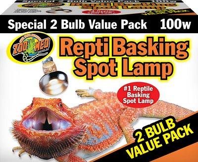 Zoo Med Repti Basking Reptile Spot Lamp, 100-Watt, 2-count
