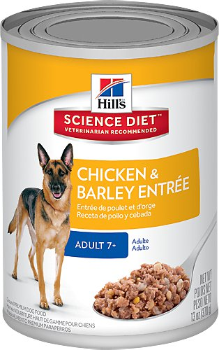 Hill's Science Diet Adult 7+ Chicken & Barley Entree Canned Dog Food, 13-oz