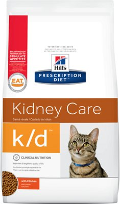 Hill's Prescription Diet k/d Kidney Care with Chicken Dry Cat Food, 8.5-lb bag