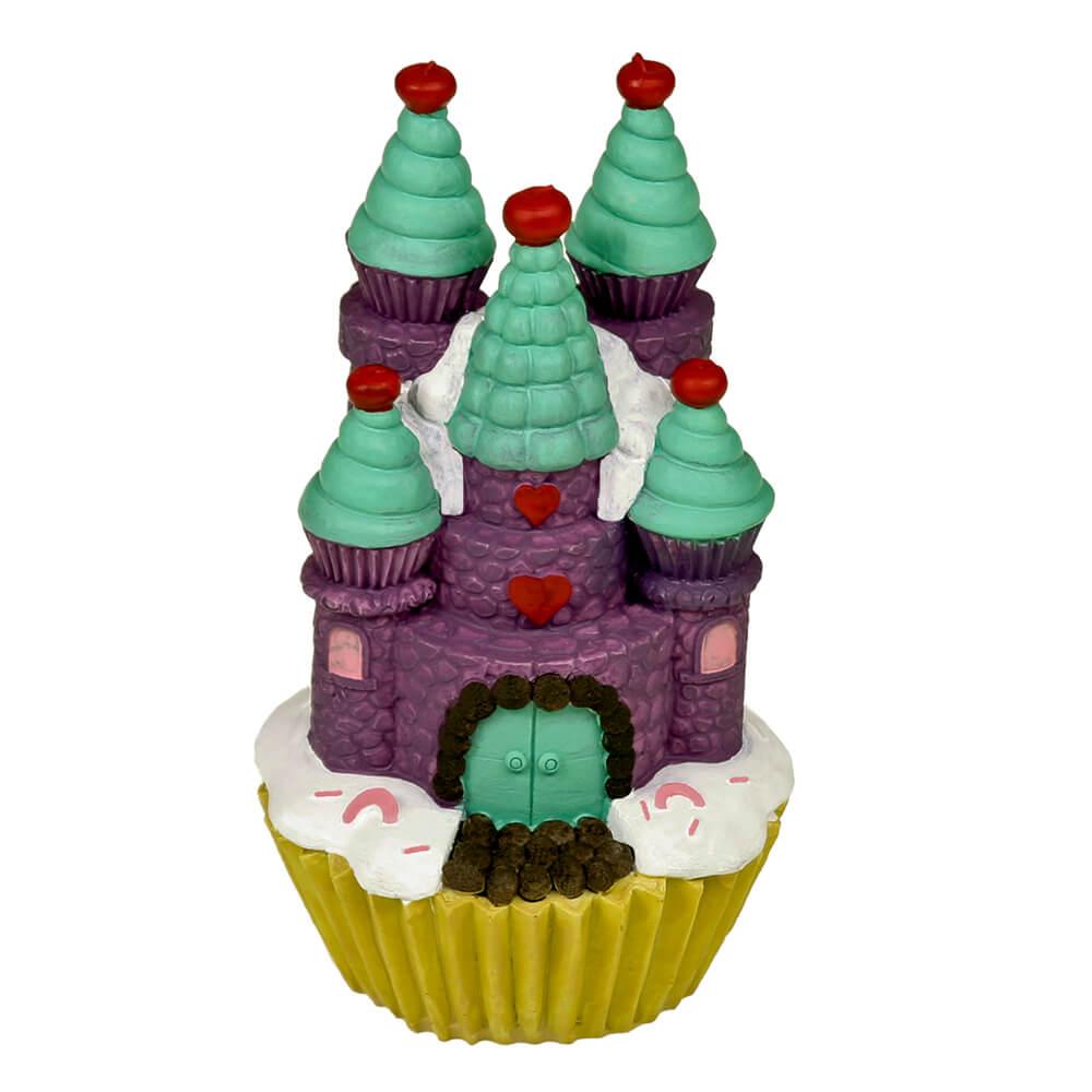 Blue Ribbon Exotic Environments Cupcake Castle Aquarium Ornaments, Purple, Large
