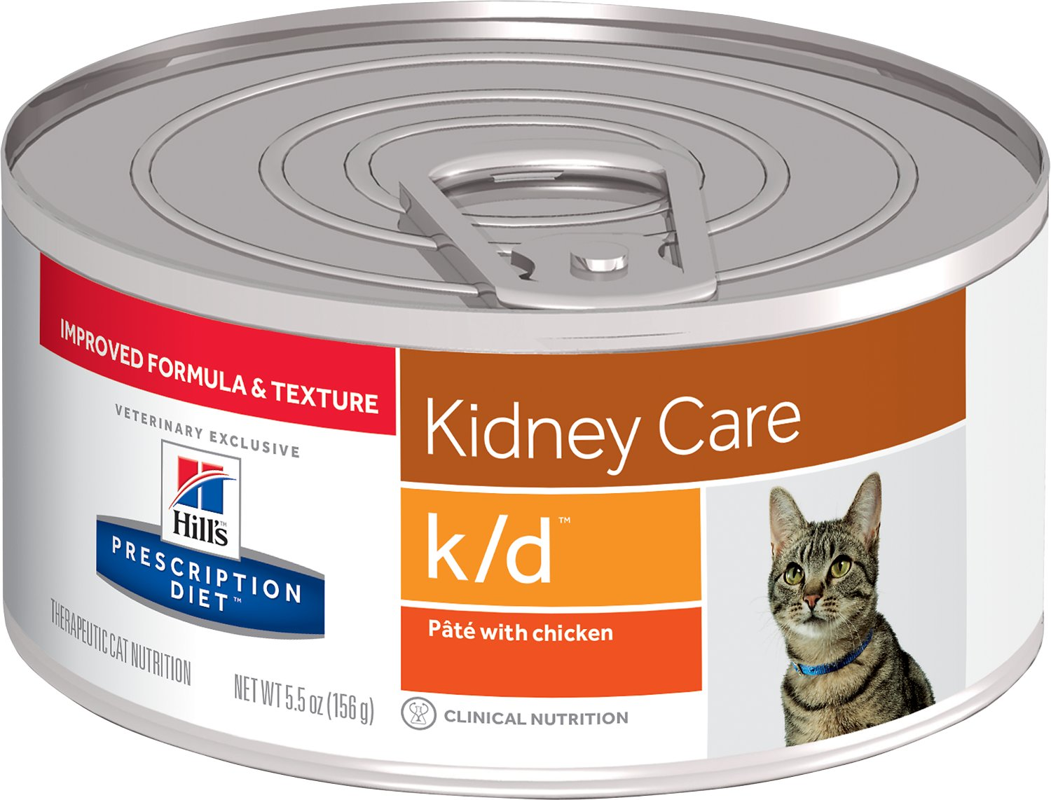 Hill's Prescription Diet k/d Kidney Care with Chicken Canned Cat Food, 5.5-oz, case of 24