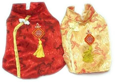 PAMPET / Puppe Love Dog Costume, Chinese Dress Gold, Size 4