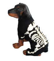 PAMPET / Puppe Love Dog Costume, Skeleton White, Size 0