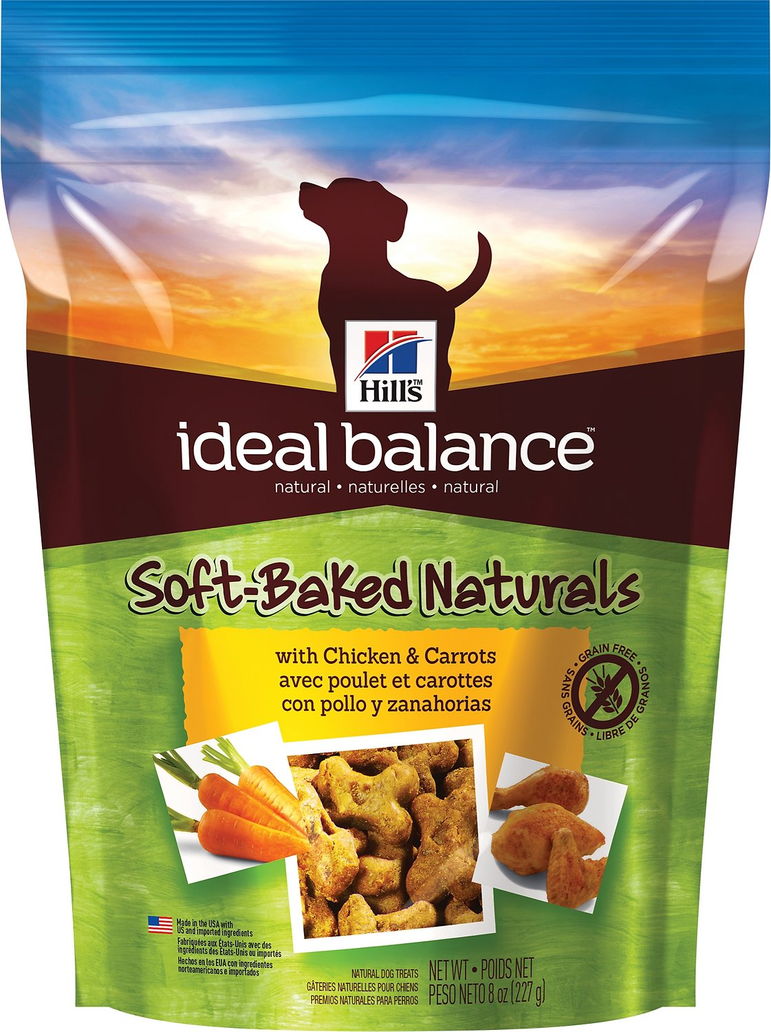 Hill's Ideal Balance Soft-Baked Naturals with Chicken & Carrots Dog Treats, 8-oz bag