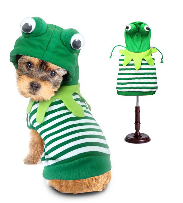 PAMPET / Puppe Love Dog Costume, Frog, Size 1