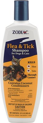 Zodiac Flea & Tick Shampoo for Dogs & Cats, 12-oz