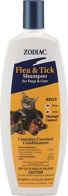 Zodiac Flea & Tick Shampoo for Dogs & Cats, 18-oz