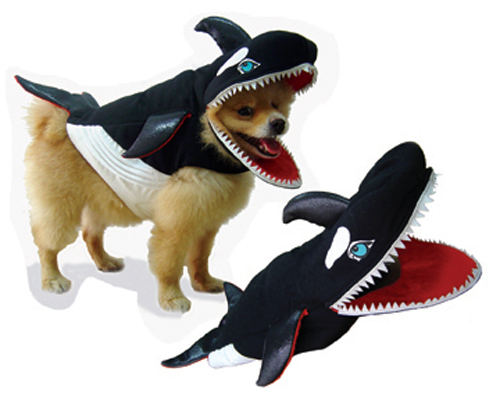 PAMPET / Puppe Love Dog Costume, Killer Whale, Size 0