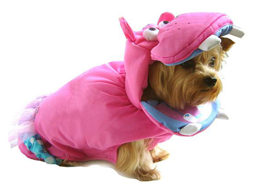 PAMPET / Puppe Love Dog Costume, Pink Hippo, Size 1
