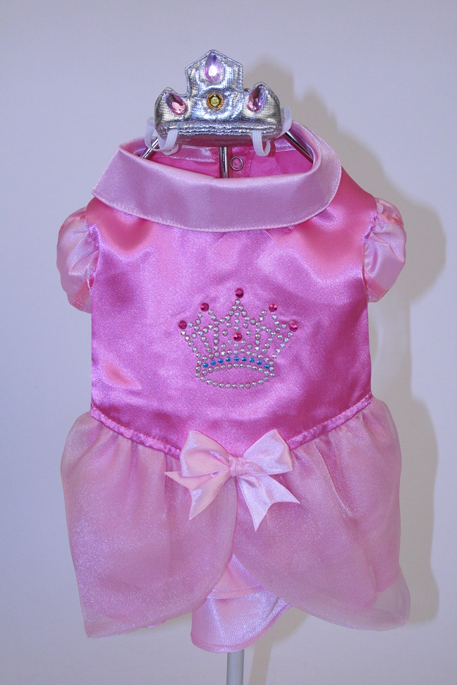 PAMPET / Puppe Love Dog Costume, Satin Princess with Crown