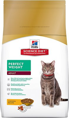 Hill's Science Diet Adult Perfect Weight Dry Cat Food, 3-lb bag