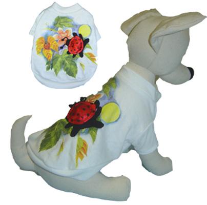 PAMPET / Puppe Love Dog Shirt, Animal Planet Lady Bug, Size 2