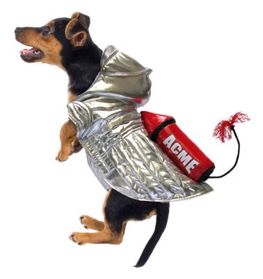 PAMPET / Puppe Love Dog Costume, Rocket Space Dog, Size 0