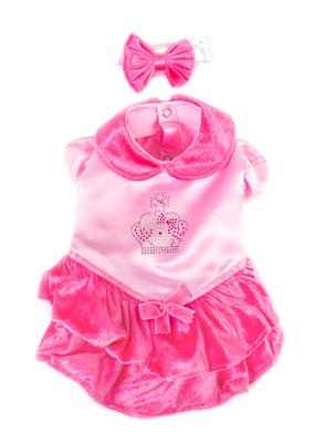 PAMPET / Puppe Love Dog Costume, Velvet Princess Pink