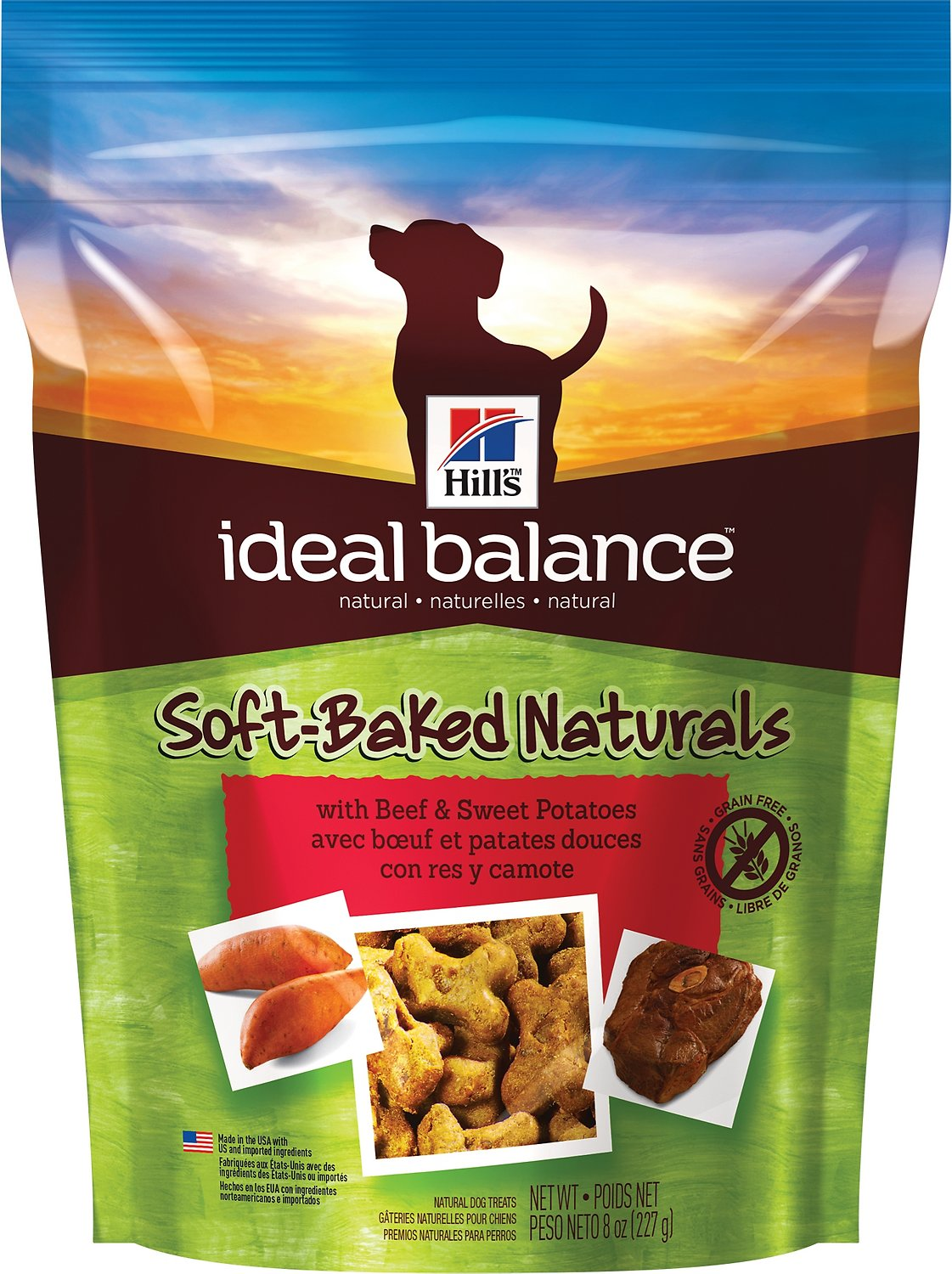 Hill's Ideal Balance Soft-Baked Naturals with Beef & Sweet Potatoes Dog Treats, 8-oz bag