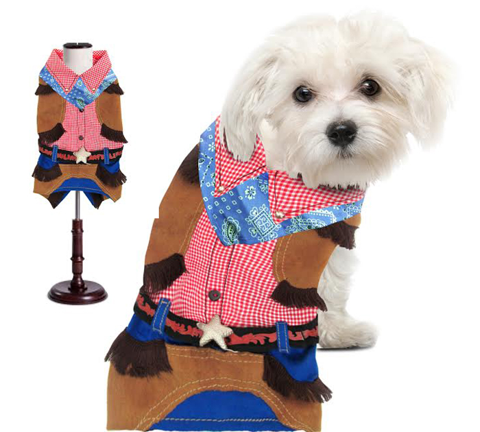 PAMPET / Puppe Love Dog Costume, Cowboy, Size 2