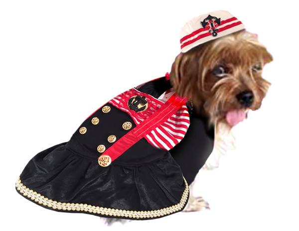 PAMPET / Puppe Love Dog Costume, Captians Mate, Size 1