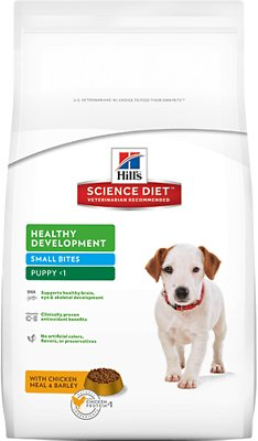 Hill's Science Diet Puppy Healthy Development Small Bites Dry Dog Food, 4.5-lb bag