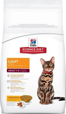 Hill's Science Diet Adult Light Dry Cat Food, 4-lb bag