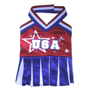 PAMPET / Puppe Love Dog Costume, USA Cheerleader, Size 1