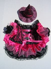 PAMPET / Puppe Love Dog Costume, Witch Pink Lace, Size 5