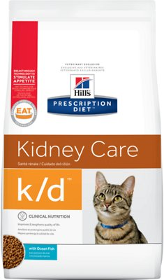 Hill's Prescription Diet k/d Kidney Care with Ocean Fish Dry Cat Food, 8.5-lb bag
