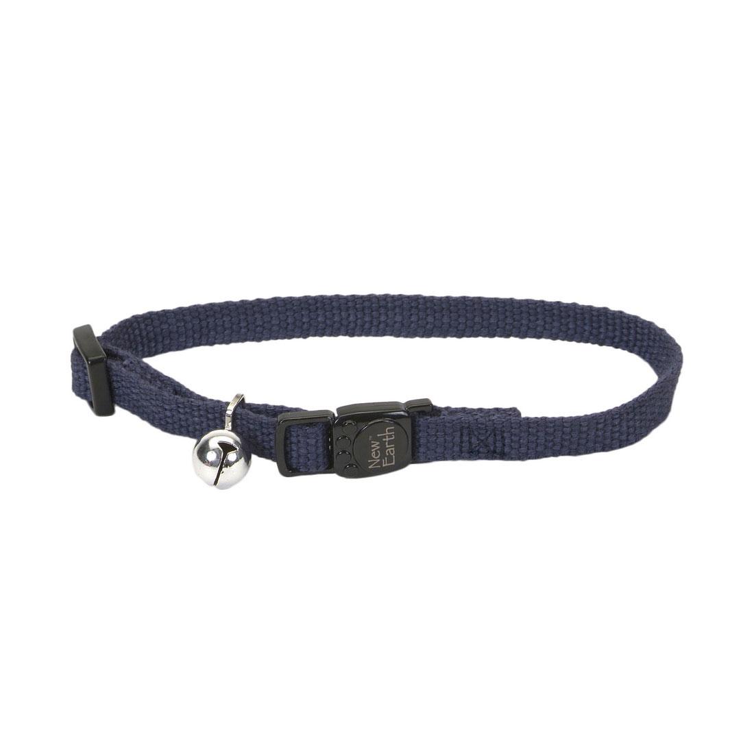 Coastal Pet New Earth Soy Adjustable Breakaway Cat Collar, Indigo, 8-12-in