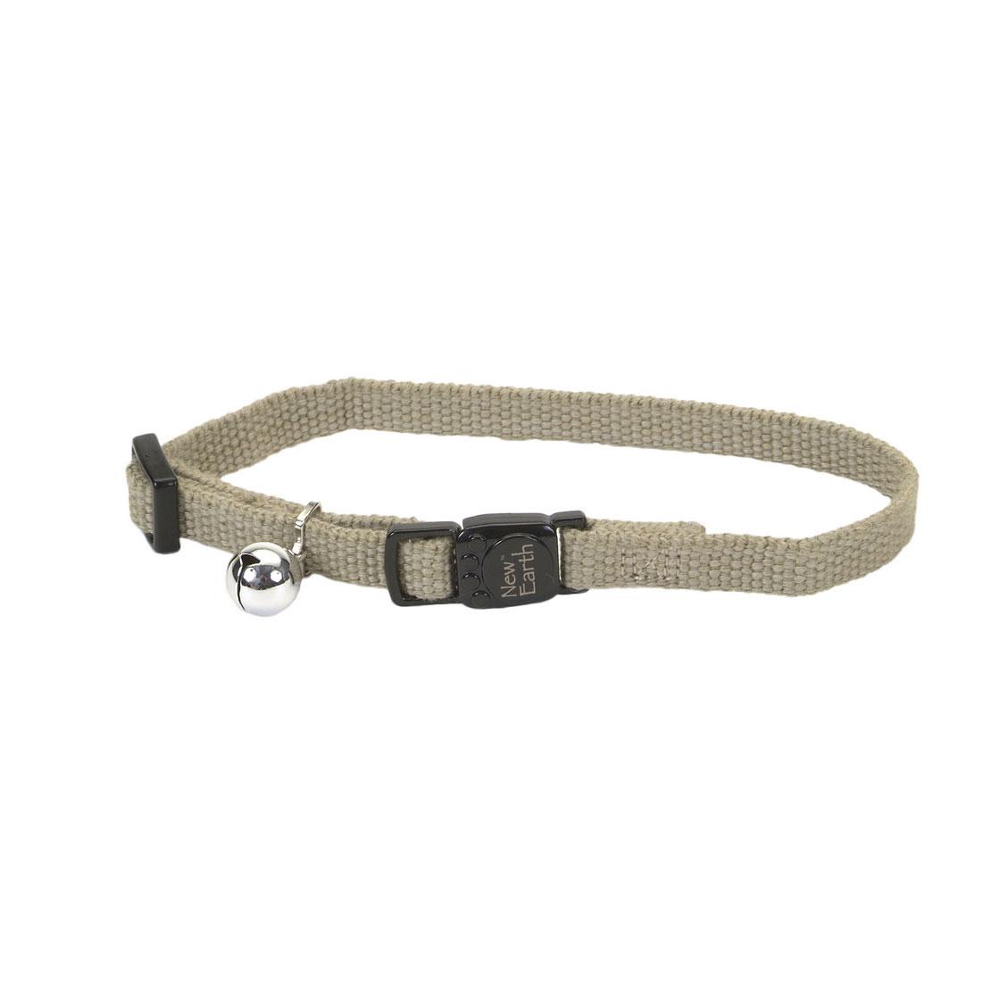 Coastal Pet New Earth Soy Adjustable Breakaway Cat Collar, Olive, 8-12-in