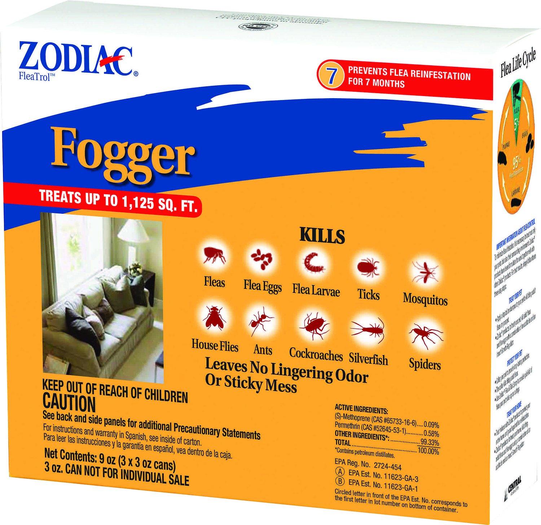 Zodiac Flea & Tick Room Fogger, 3-oz, 3-pk