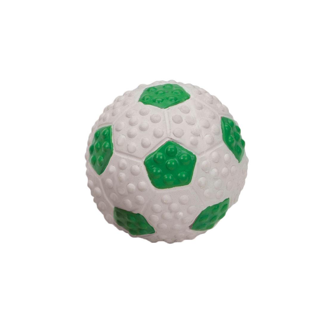 Coastal Pet Li'l Pals Latex Soccer Ball Dog Toy, Green & White