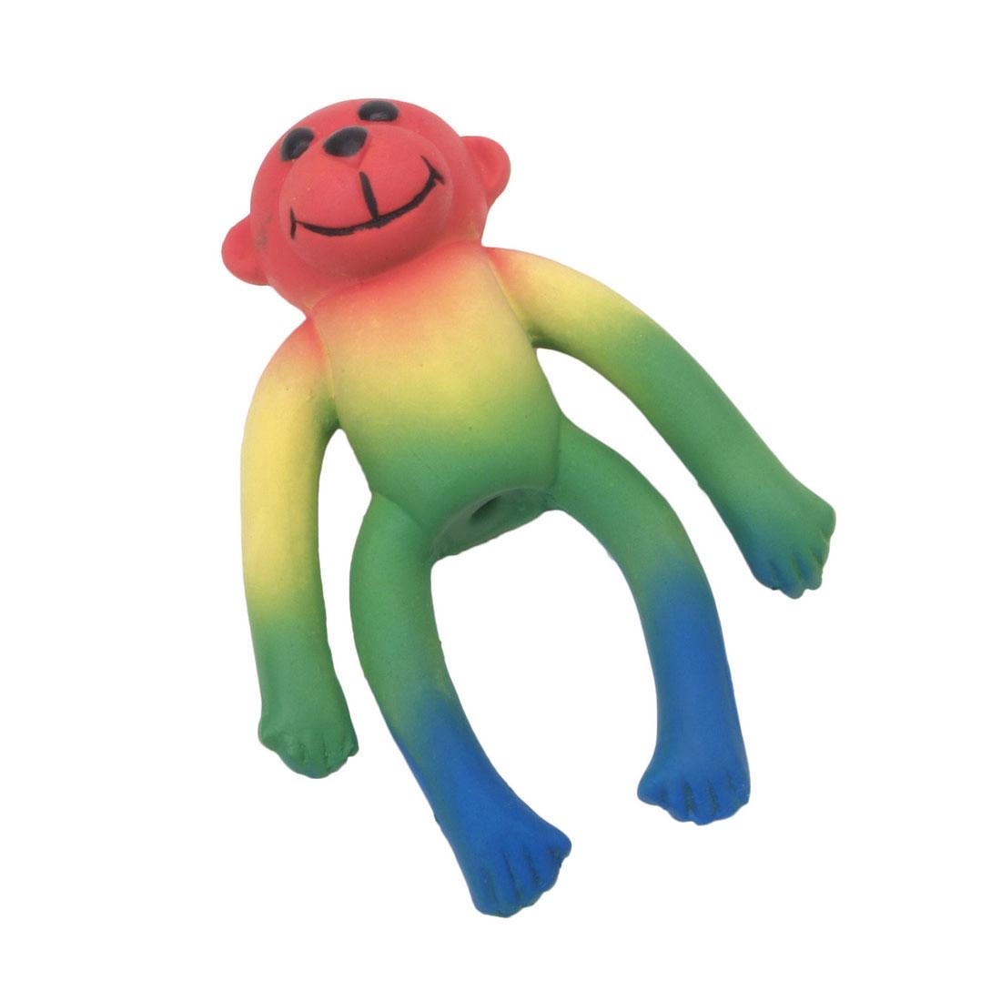 Coastal Pet Li'l Pals Latex Monkey Dog Toy, Multi-color, 4-in