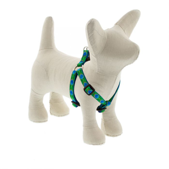 Lupine Original Designs Step In Dog Harness, Tail Feathers, 1/2-in, 10-13-in