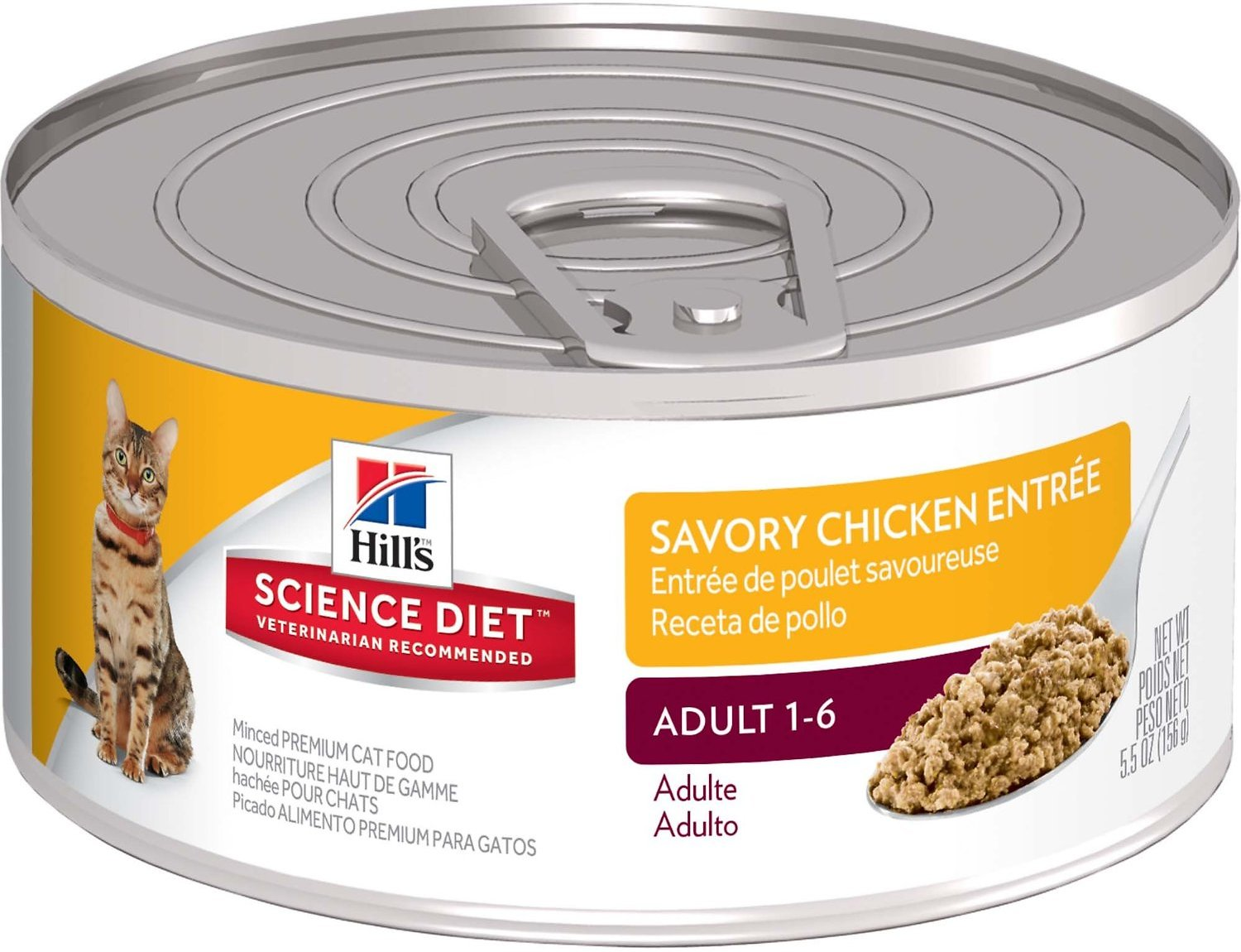 Hill's Science Diet Adult Savory Chicken Entree Canned Cat Food, 5.5-oz