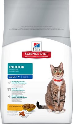 Hill's Science Diet Adult 7+ Indoor Dry Cat Food, 7-lb bag