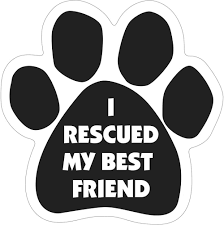"Magnetic Pedigrees ""I Rescued My Best Friend"" Paw Magnet"