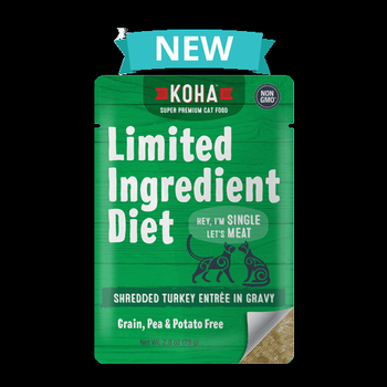 Koha Limited Ingredient Grain Free Shredded Turkey Entree in Gravy Wet Cat Food