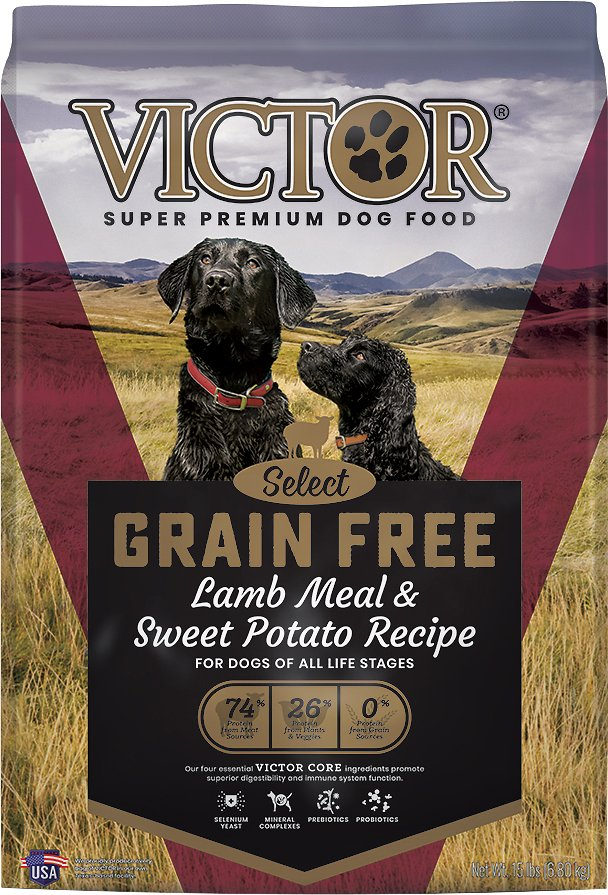 Victor Grain-Free Prairie Land Canine with Lamb Meal & Sweet Potato Dry Dog Food, 15-lb bag