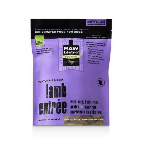 Raw Bistro Lamb Entrée Raw Dehydrated Dog Food, 1-lb