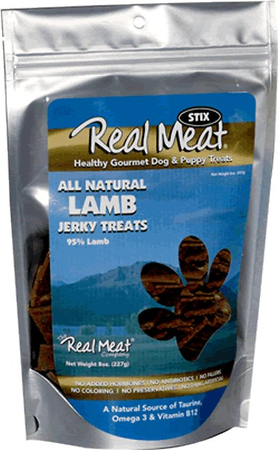 The Real Meat Company 95% Lamb Jerky Stix Dog Treats, 8-oz bag